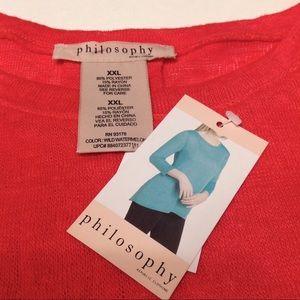 Philosophy Hi-Lo Pullover-XXL Wild Watermelon